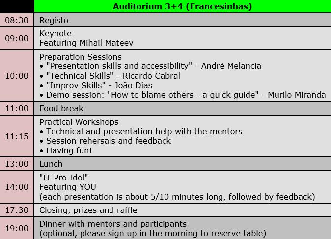 Agenda do evento